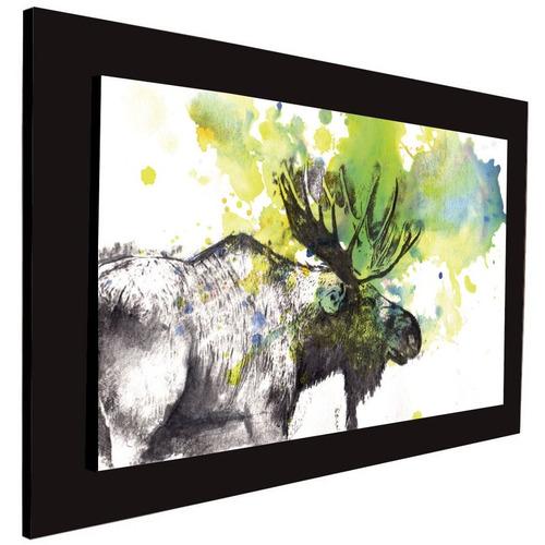 cuadro 60x40 cms tipo oleo alce decorativo +envío gratis