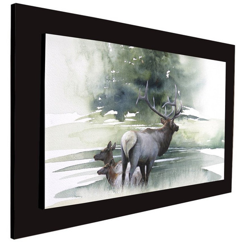 cuadro 60x40 cms tipo oleo alce2 decorativo +envío gratis