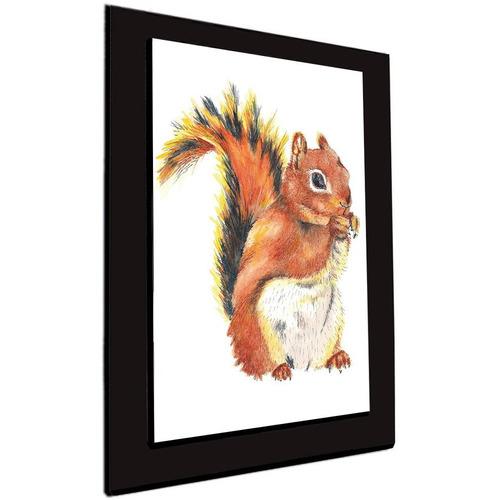 cuadro 60x40 cms tipo oleo ardilla decorativo+envío gratis
