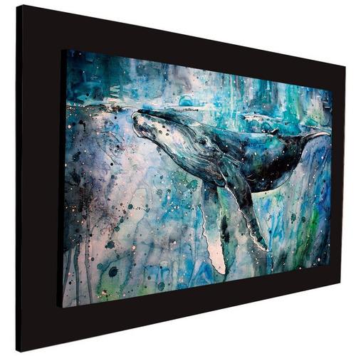cuadro 60x40 cms tipo oleo ballena decorativo+envío gratis