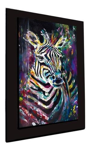 cuadro 60x40 cms tipo oleo cebra decorativo+envío gratis