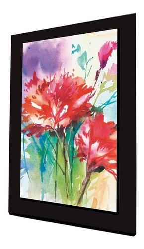 cuadro 60x40 cms tipo oleo flores2 decorativo +envío gratis
