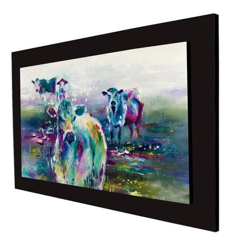 cuadro 60x40 cms tipo oleo vaca3 decorativo+envío gratis