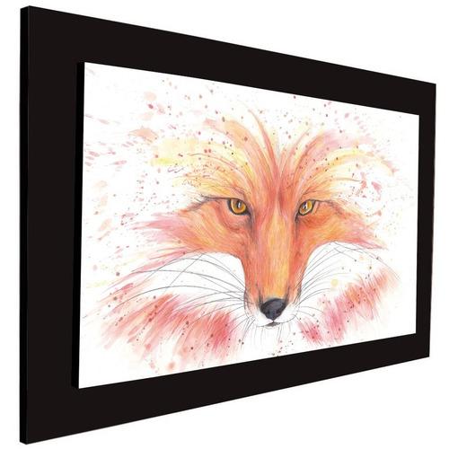 cuadro 60x40 cms tipo oleo zorro1 decorativo+envío gratis