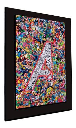 cuadro 60x40cms decorativo avengers collage+envío gratis