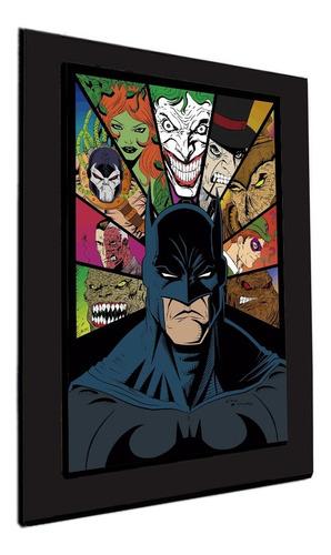 cuadro 60x40cms decorativo batman & villanos 2 +envío gratis