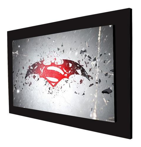 cuadro 60x40cms decorativo batman vs superman+envío gratis
