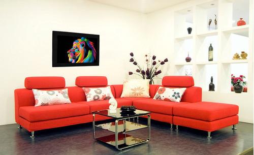 cuadro 60x40cms decorativo leon +envío gratis