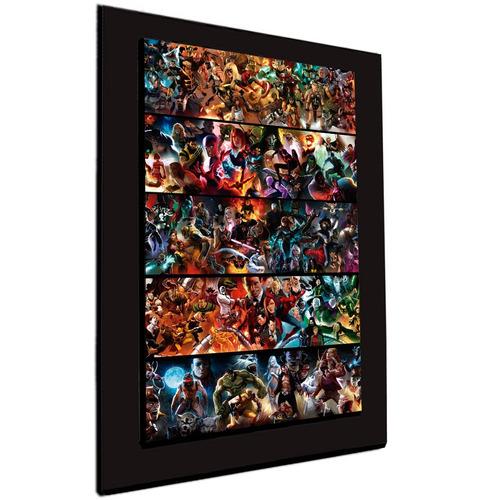 cuadro 60x40cms decorativo marvel teams+envío gratis