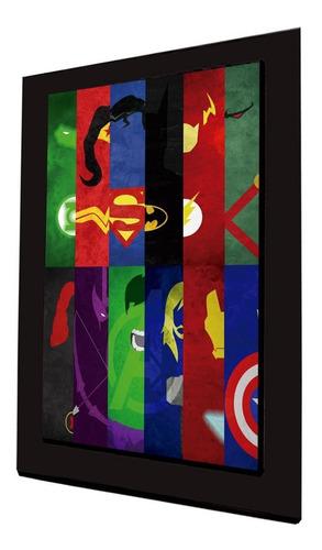cuadro 60x40cms decorativo superheroes2+envío gratis