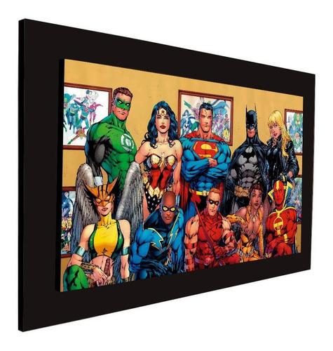 cuadro 60x40cms decorativo superheroes3+envío gratis