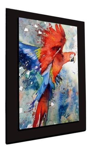 cuadro 60x40cms tipo oleo papagayo decorativo