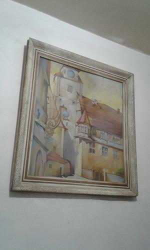 cuadro 63x68 cm  marco patinado