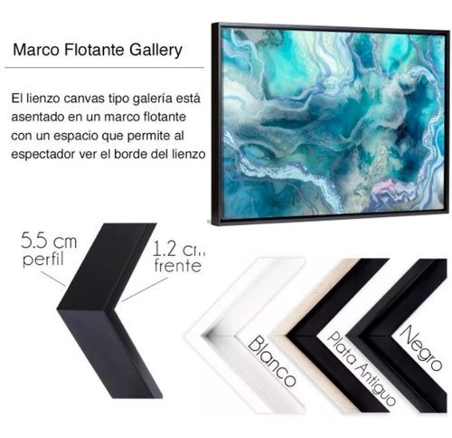 cuadro abstracto decorativo mármol azul lienzo canvas no sintetico  moderno estilo galeria opcion de enmarcado