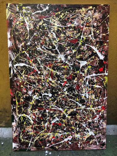 cuadro abstracto dripping influencia jackson pollock 8 nuner