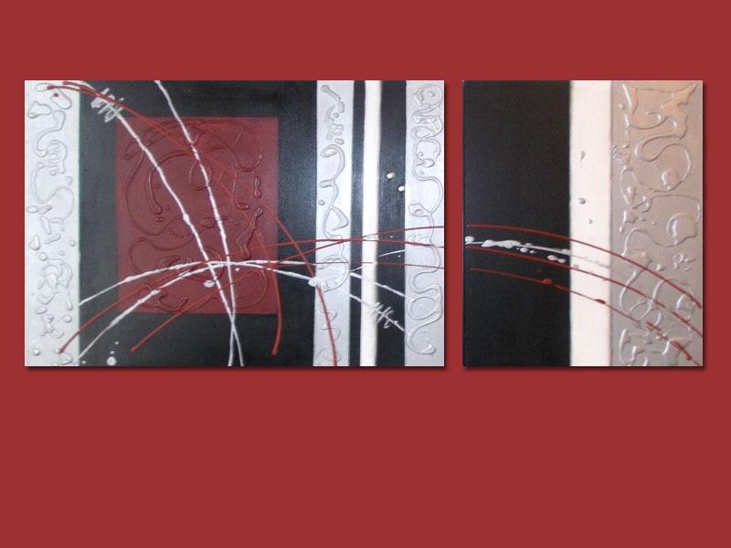Cuadro Abstracto - Moderno - Pintado A Mano - $ 4.900,00 en Mercado ...