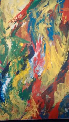 cuadro abstracto original de maria rosa verna