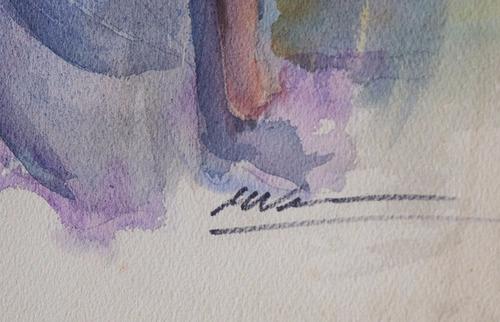 cuadro acuarela original eduardo vernazza firmado 60x45