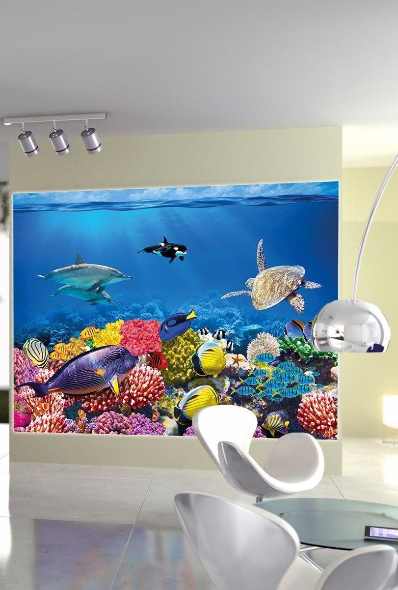 Cuadro acuario peces corales buceo decoracion sala cuarto 2 en mercado libre - Decoracion acuario marino ...