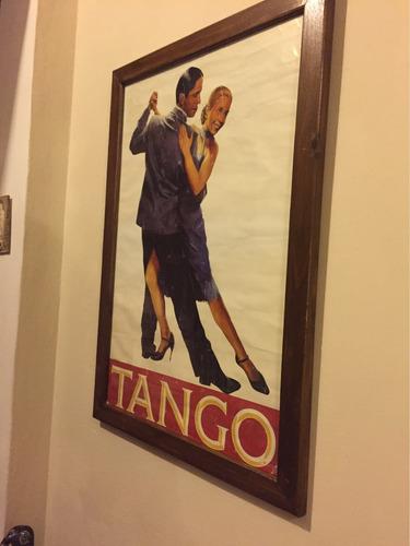 cuadro afiche del 1950 - gardel y evita perón