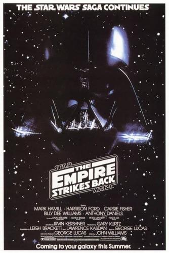 cuadro afiche el imperio contra ataca star wars