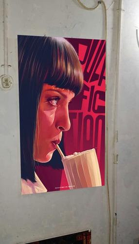 cuadro afiche   pulp fiction (genial diseño!)