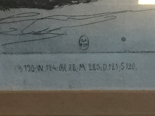 cuadro agua fuerte rembrandt sellado-the spanish gipsy 38x33