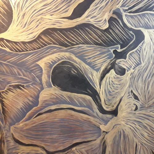 cuadro al oleo abstracto gande mide 80x80
