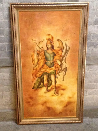 cuadro al oleo de arcangel
