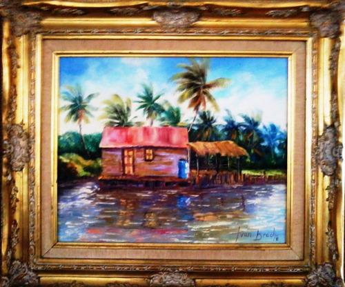 cuadro al oleo del pintor zuliano ivan bracho.