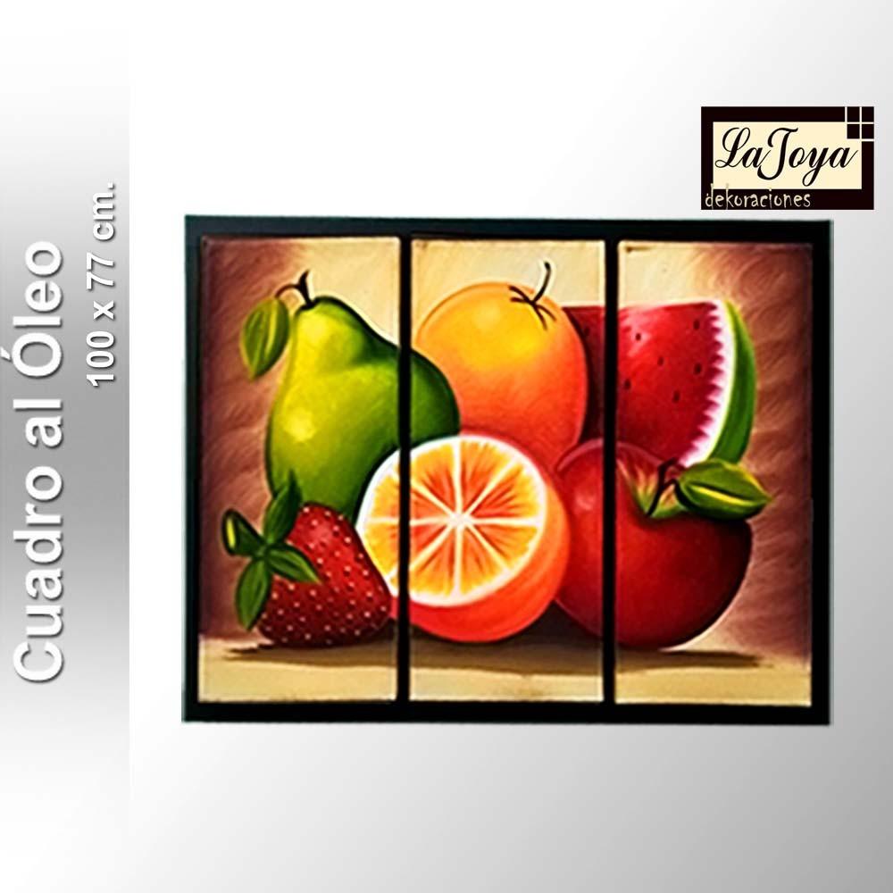 Cuadro al leo frutas abstractos en mercado for Cuadros en country para comedor