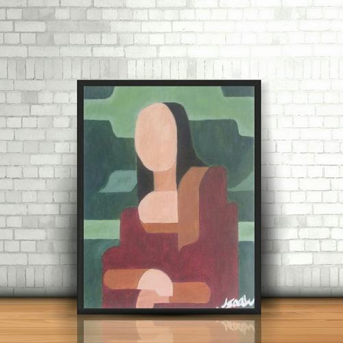 cuadro al oleo minimalista monalisa pintura hecha a mano