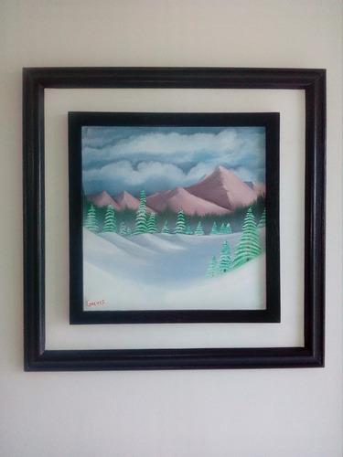 cuadro al oleo nevada