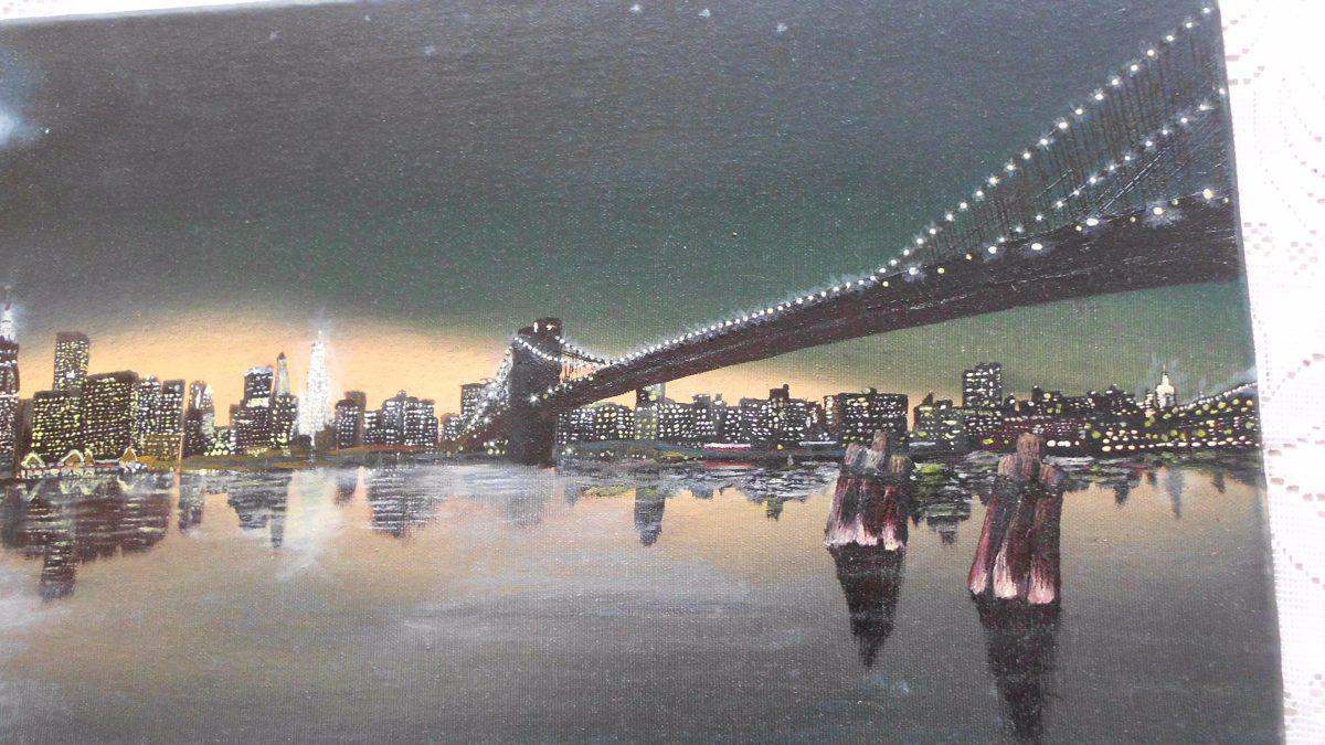 Cuadro Al Oleo Retratos Realista Nueva York Paisaje Dibujos Bs 1