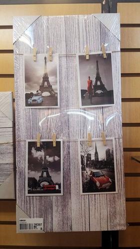 cuadro alto  c/ganchos para colgar fotos, notas.