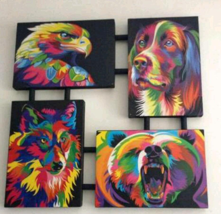 Cuadro Animales Colores - $ 400.00 en Mercado Libre