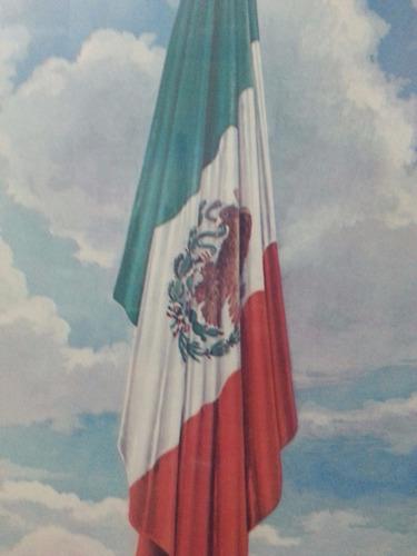 cuadro antiguo. bandera nacional