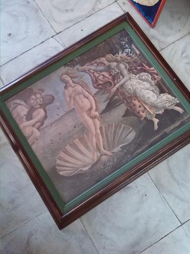 cuadro antiguo serigrafia nacimiento venus sandro botticelli