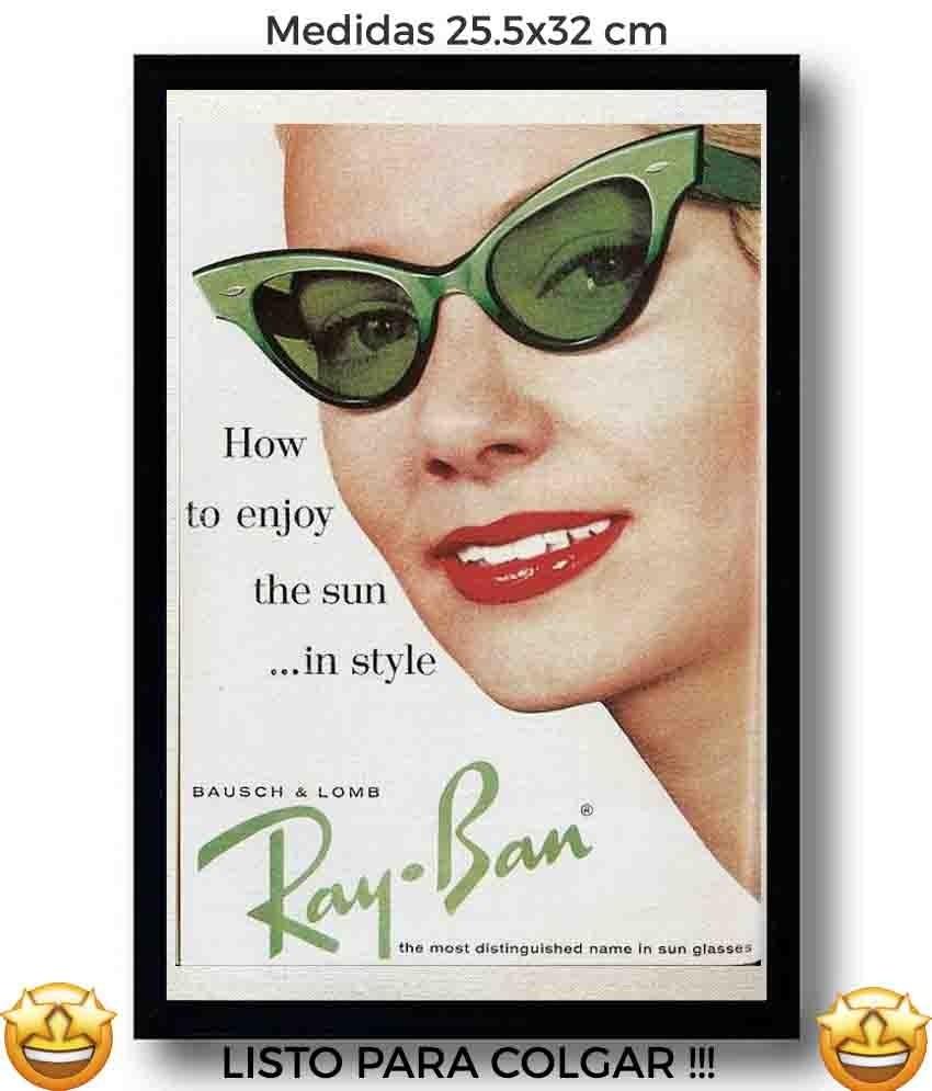 3b5b0dce95d5a cuadro anuncio ray-ban retro canvas tela arte vintage pulp d. Cargando zoom.
