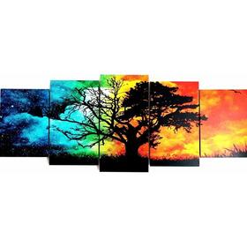 Cuadro Arbol De La Vida Color 4 Estaciones Año Poliptico