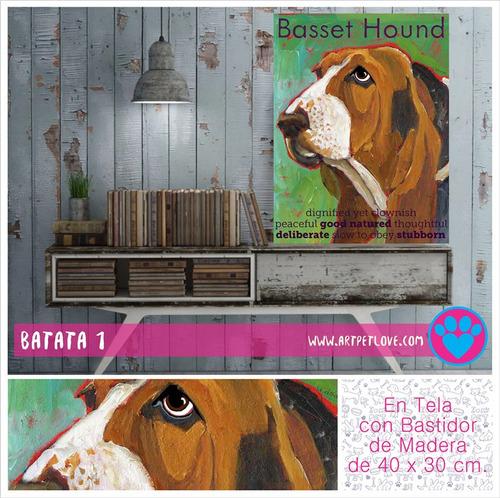 cuadro - art pet love - basset hound 1.