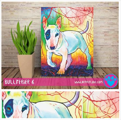 cuadro art pet love -  bullterier 6.