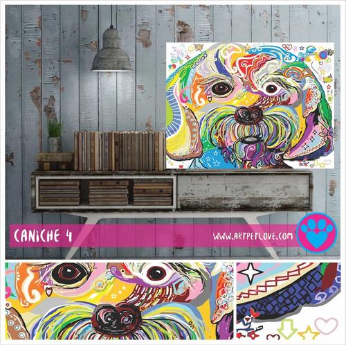 cuadro art pet love -  caniche 4.