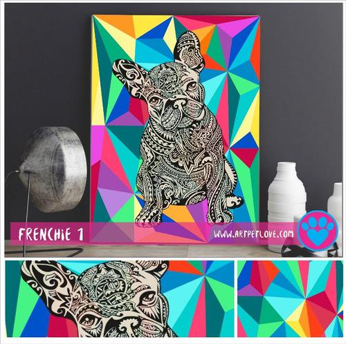 cuadro - art pet love - frenchie 1.