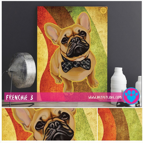 cuadro - art pet love - frenchie 3.