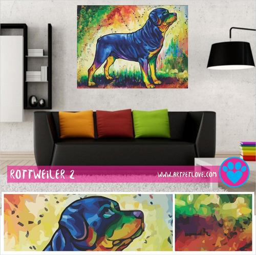 cuadro art pet love -  rottweiler 2.
