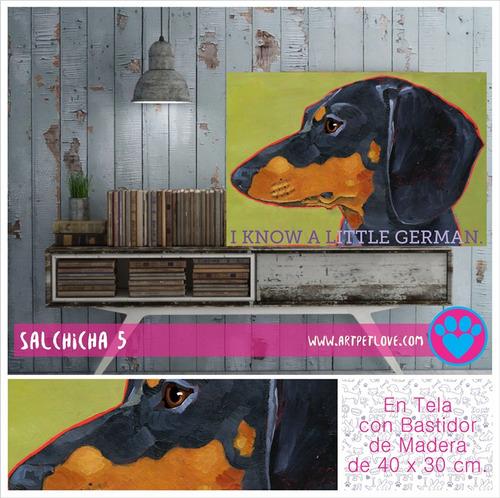 cuadro - art pet love - salchicha 5.