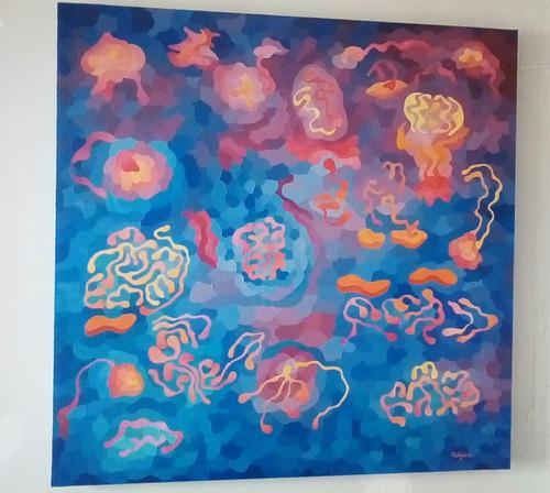 cuadro arte  abstracto original 80 x 80 - artista caligiuri