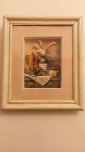cuadro arte frances cocina 34x42