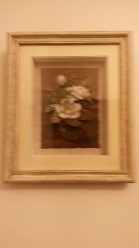 cuadro arte francés magnolias 31,5 x 36,5